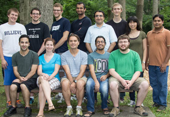 Photo of the entire Costas Maranas Research Group from July 2013.